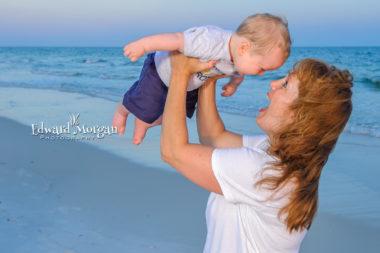 Pensacola family beach portraits six
