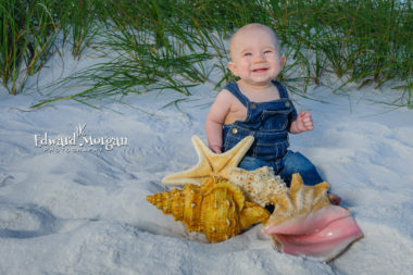 Pensacola family beach portraits five