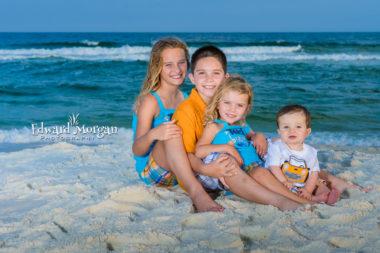 Pensacola family beach portraits four