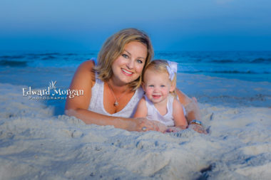 Florida family beach portraits three