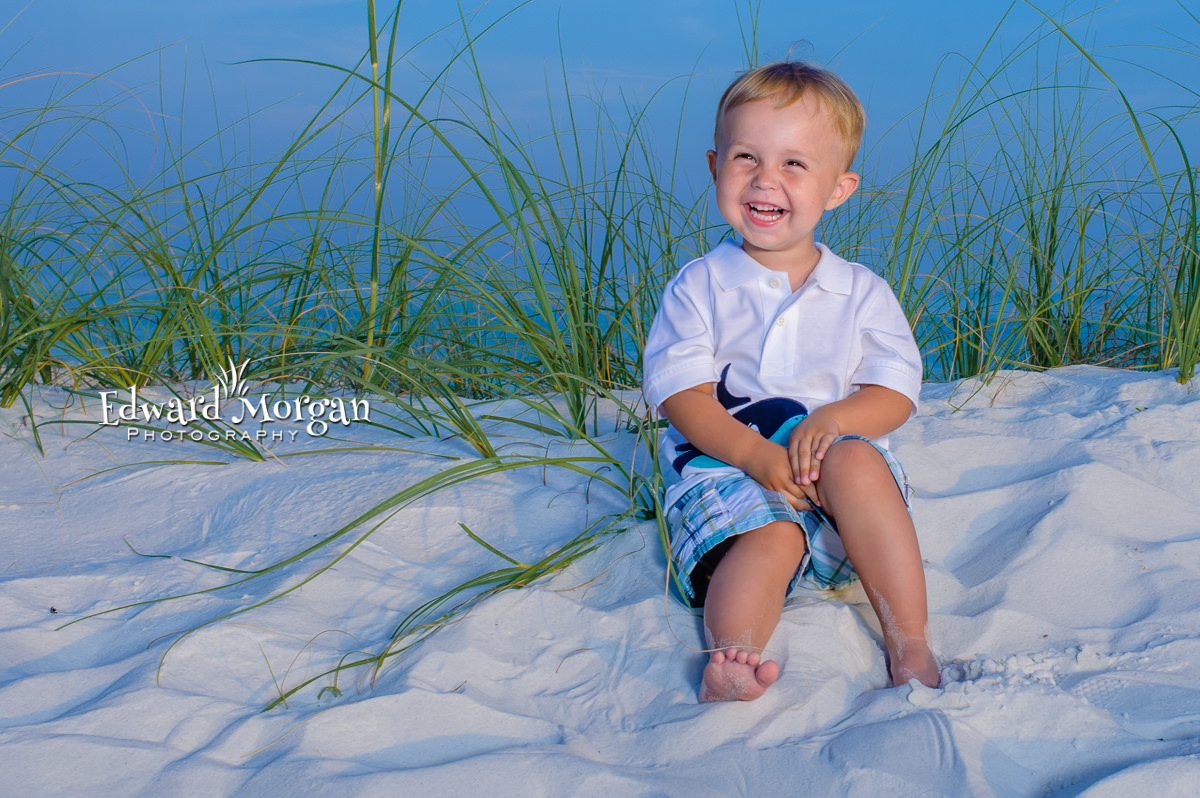 Fort Morgan family beach portraits fun