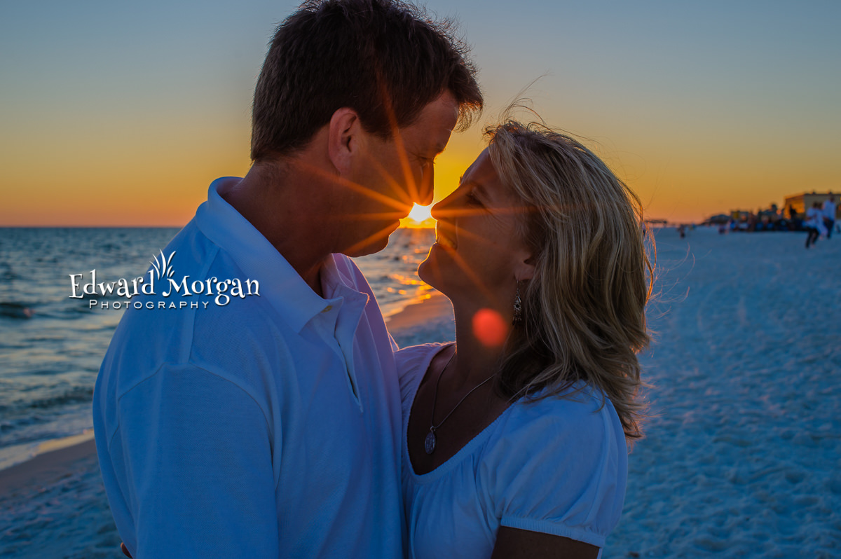 Fort Morgan family beach portraits amazing sunset